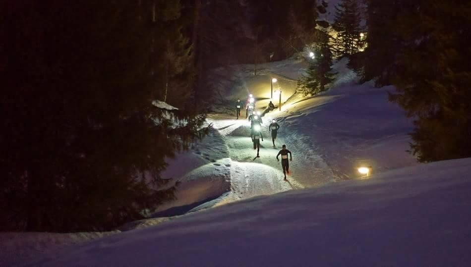 Rennen met sneeuwschoenen
