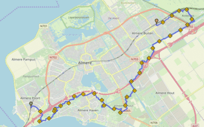 Nieuwe stationsroute: Almere Poort – Almere Oostvaarders
